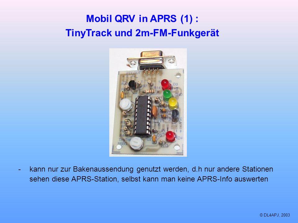 TinyTrack und 2m-FM-Funkgerät
