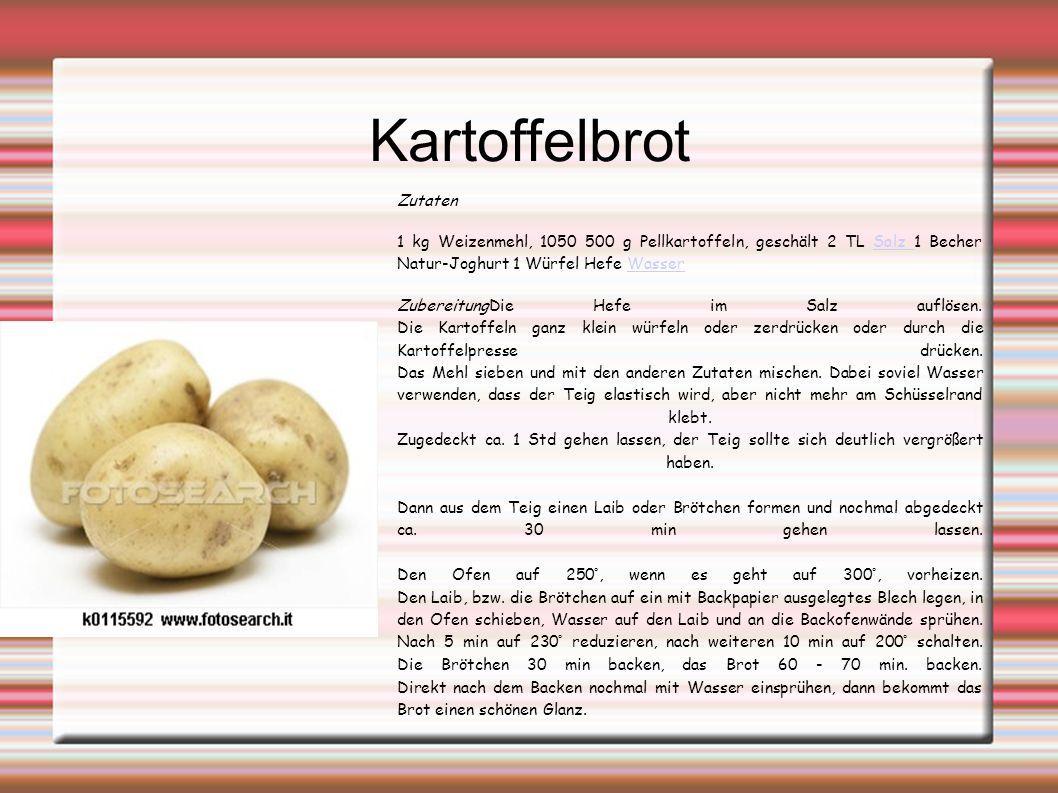 Kartoffelbrot Zutaten