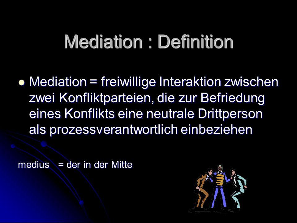 Mediation : Definition