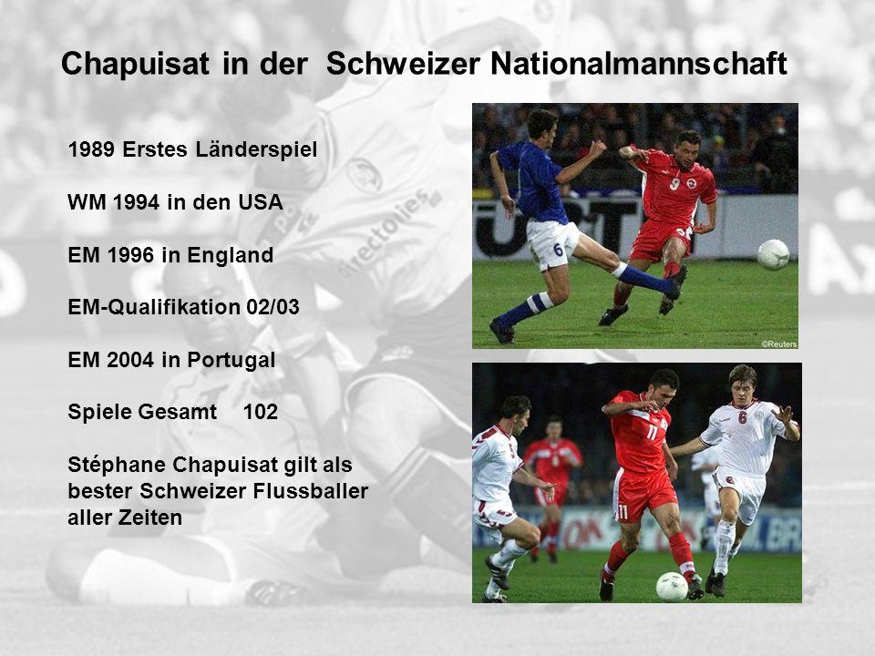 Chapuisat in der Schweizer Nationalmannschaft