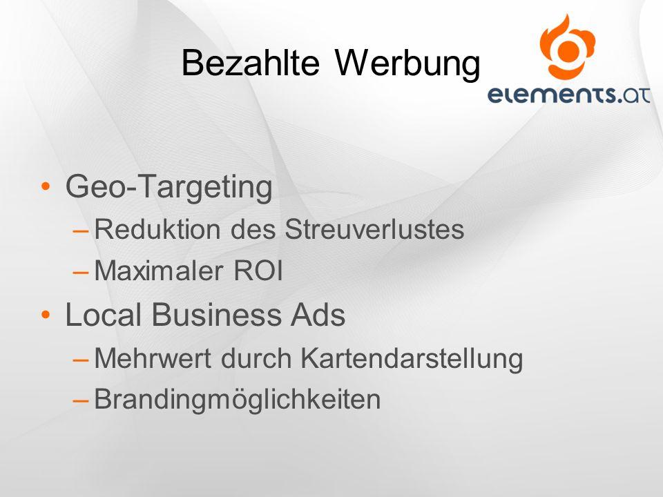 Bezahlte Werbung Geo-Targeting Local Business Ads