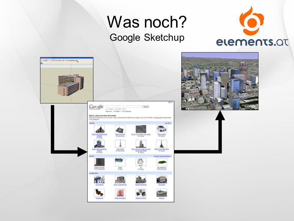 Was noch Google Sketchup