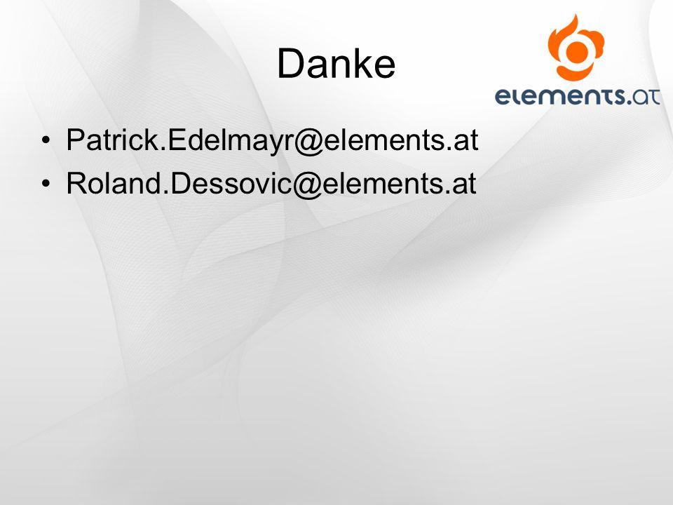 Danke Patrick.Edelmayr@elements.at Roland.Dessovic@elements.at