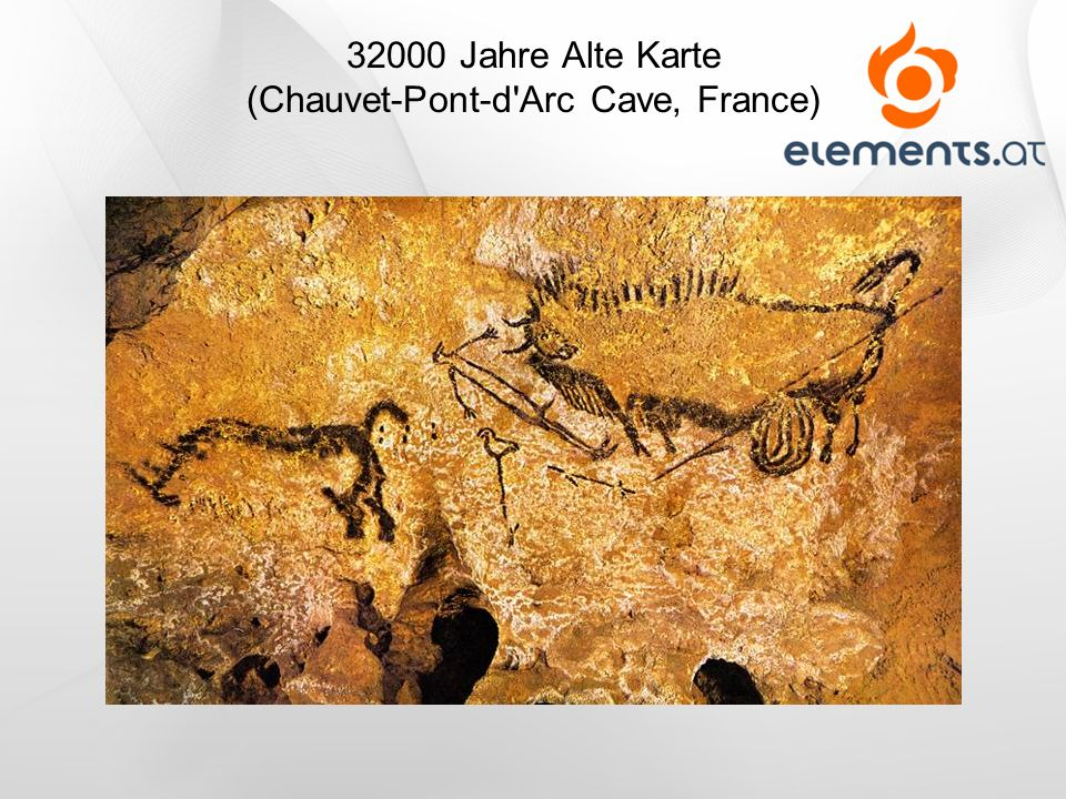 32000 Jahre Alte Karte (Chauvet-Pont-d Arc Cave, France)