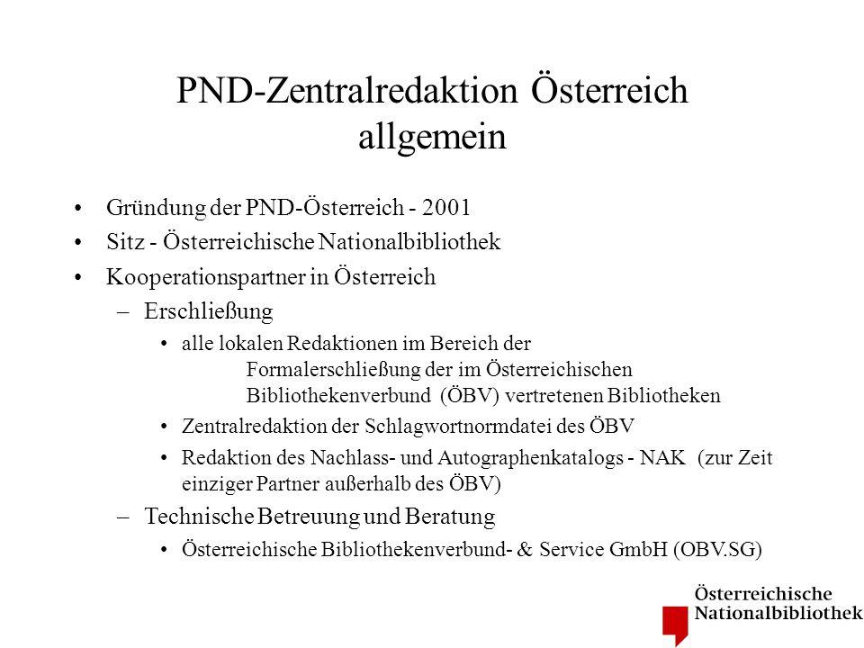 PND-Zentralredaktion Österreich allgemein