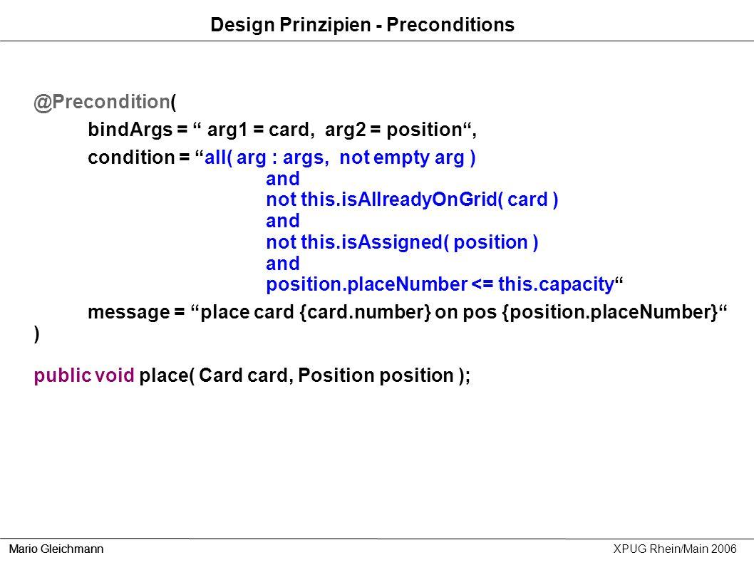Design Prinzipien - Preconditions