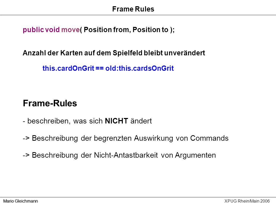 Frame-Rules - beschreiben, was sich NICHT ändert