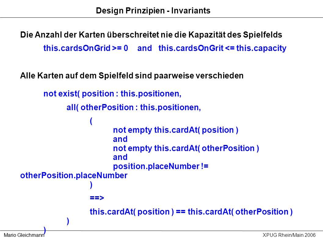 Design Prinzipien - Invariants