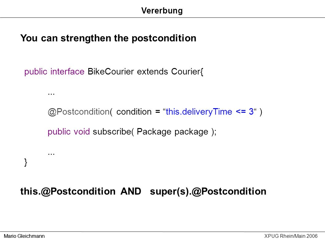 You can strengthen the postcondition