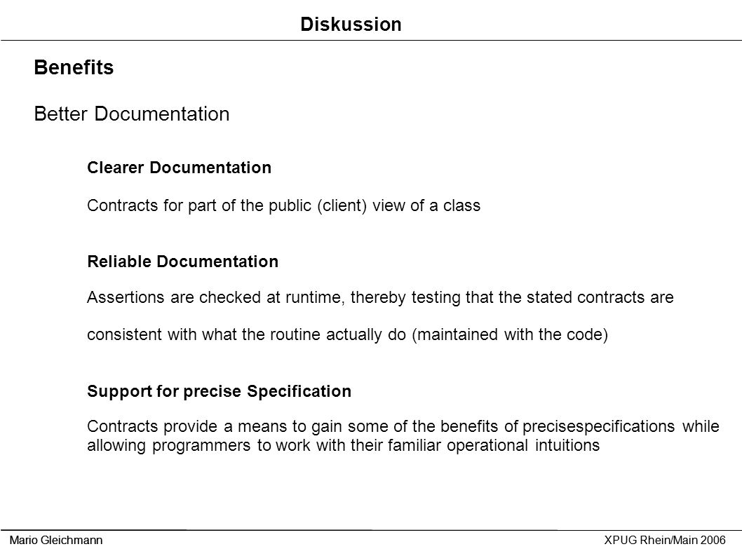 Benefits Better Documentation Diskussion Clearer Documentation