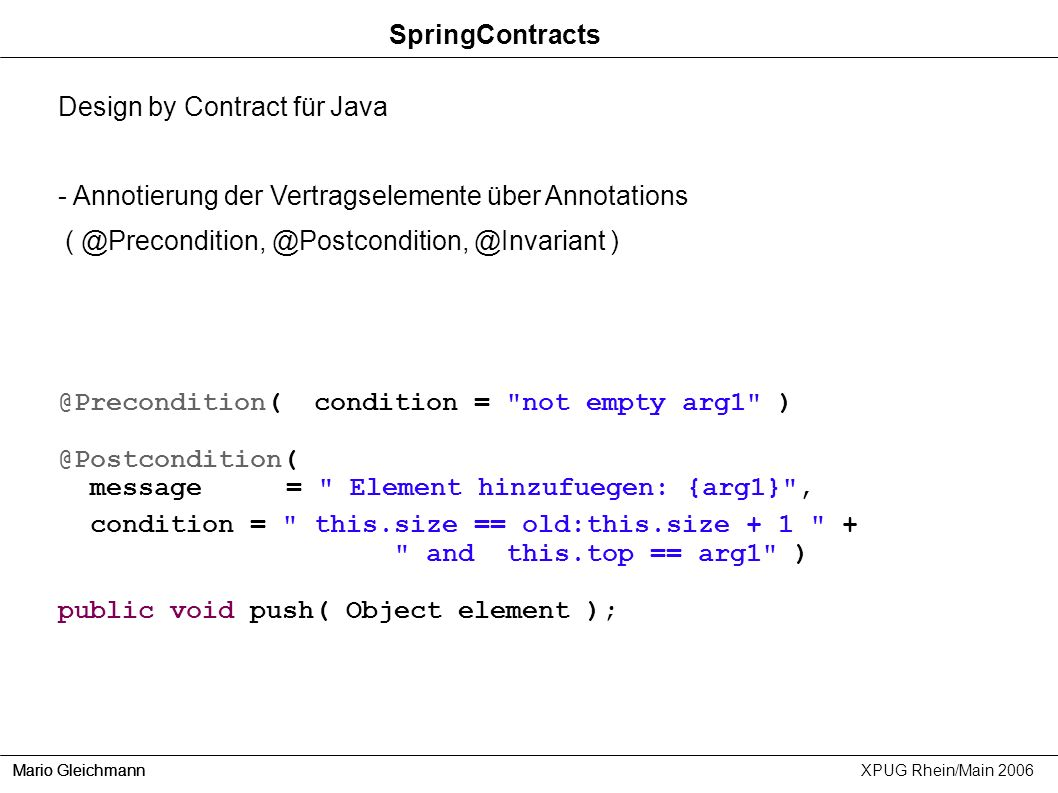 Design by Contract für Java