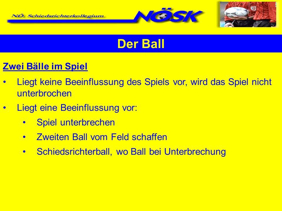 Der Ball Zwei Bälle im Spiel