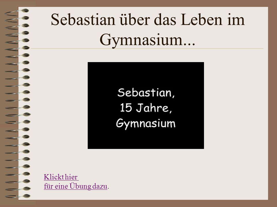 Sebastian über das Leben im Gymnasium...