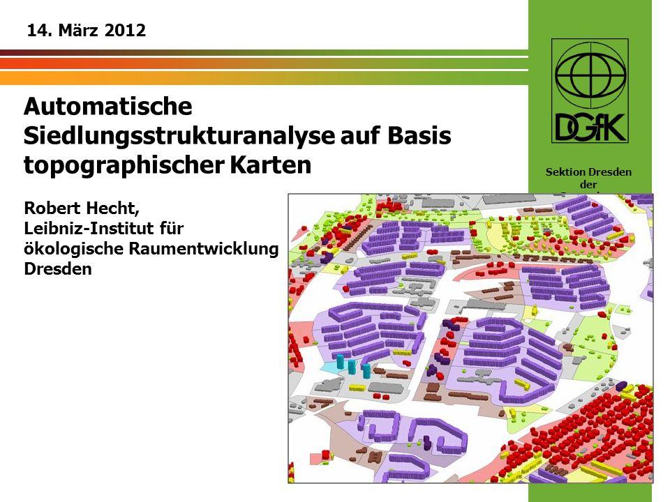 Automatische Siedlungsstrukturanalyse auf Basis topographischer Karten