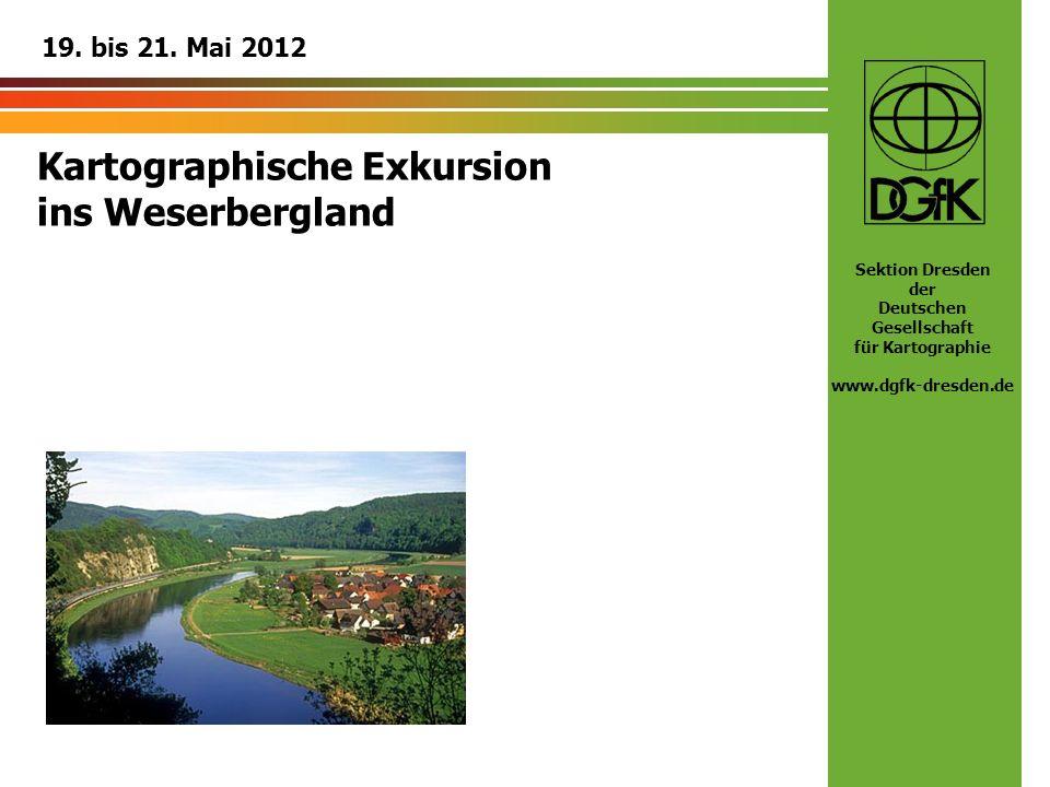 Kartographische Exkursion ins Weserbergland