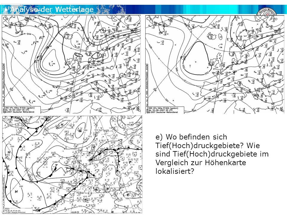 Analyse der Wetterlage