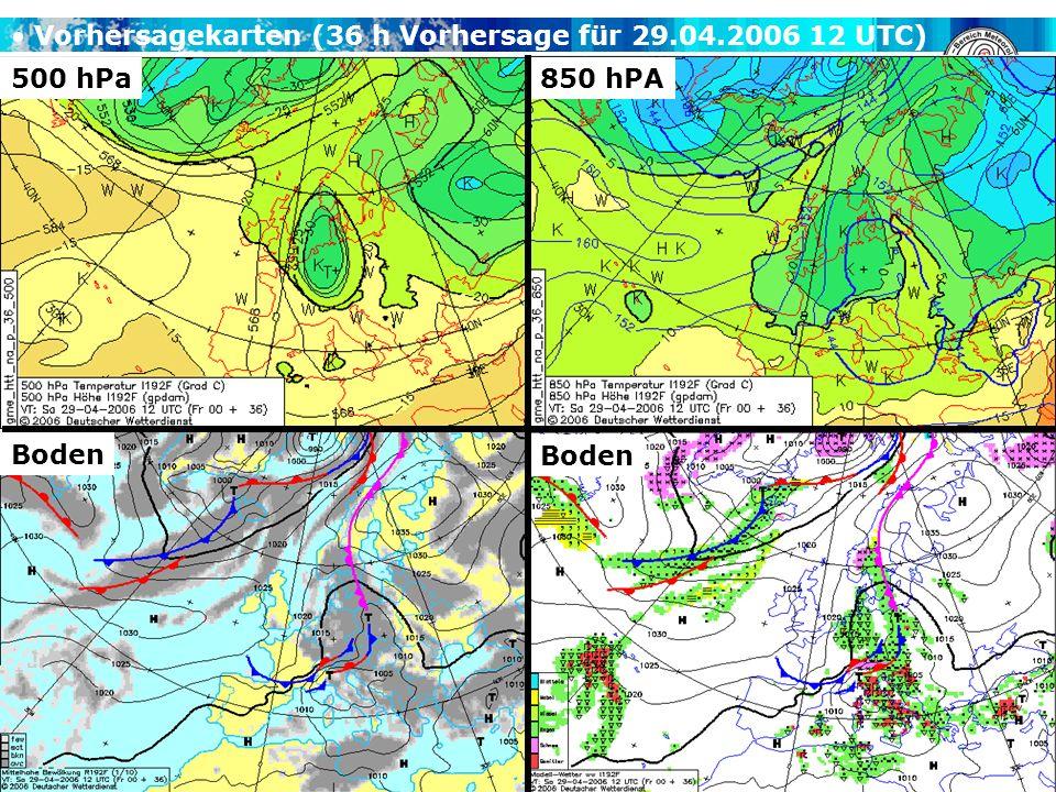 Vorhersagekarten (36 h Vorhersage für 29.04.2006 12 UTC)