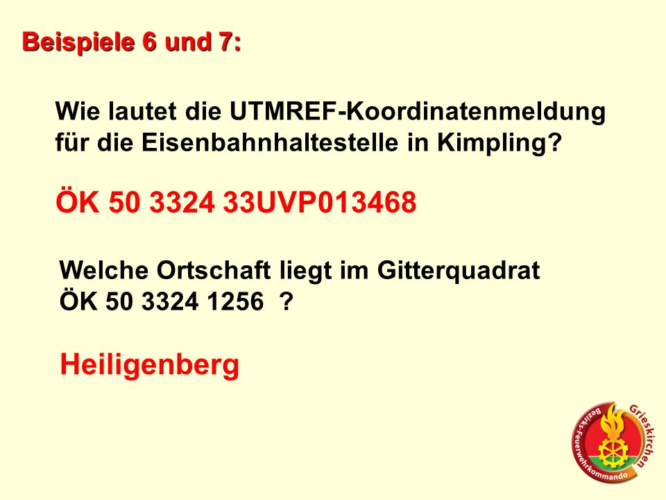 ÖK 50 3324 33UVP013468 Heiligenberg Beispiele 6 und 7:
