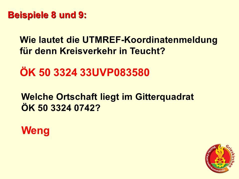 ÖK 50 3324 33UVP083580 Weng Beispiele 8 und 9: