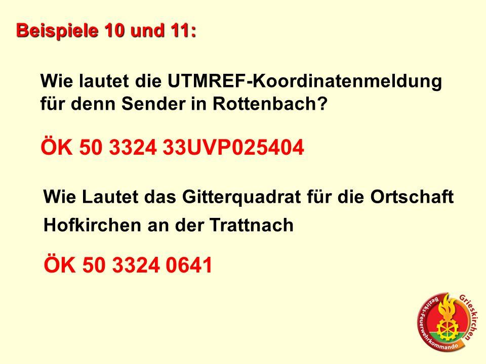 ÖK 50 3324 33UVP025404 ÖK 50 3324 0641 Beispiele 10 und 11: