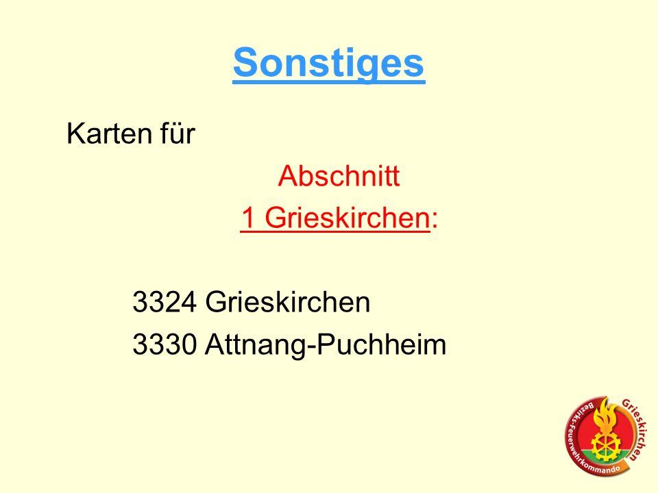 Sonstiges Karten für Abschnitt 1 Grieskirchen: 3324 Grieskirchen