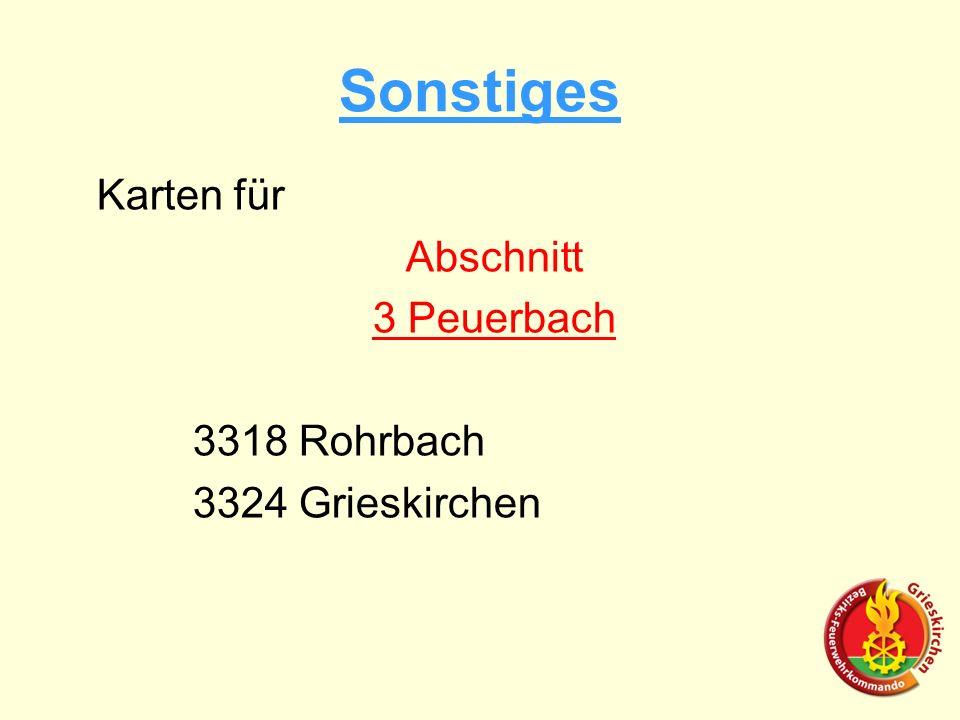 Karten für Abschnitt 3 Peuerbach 3318 Rohrbach 3324 Grieskirchen