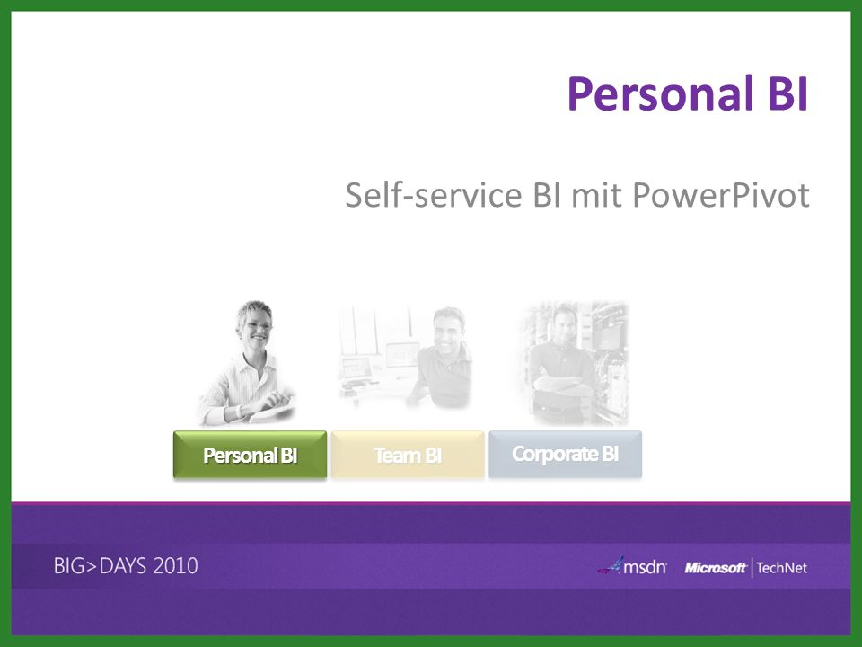 Self-service BI mit PowerPivot