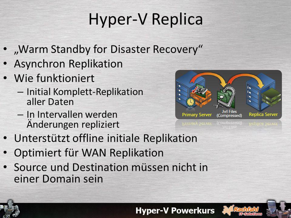 "Hyper-V Replica ""Warm Standby for Disaster Recovery"