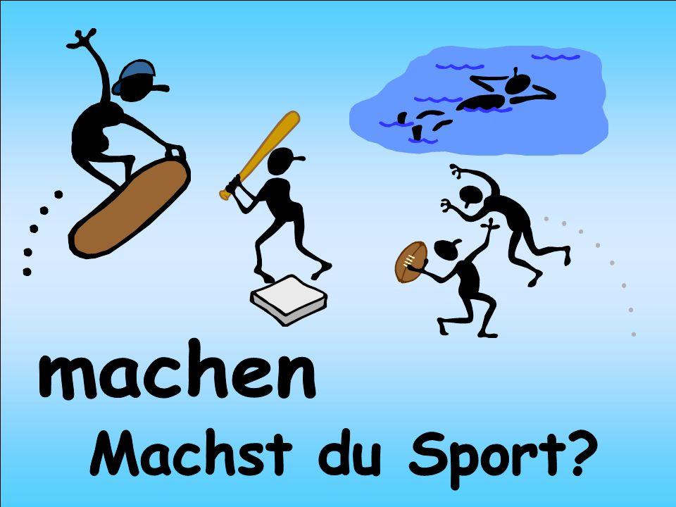 machen Machst du Sport