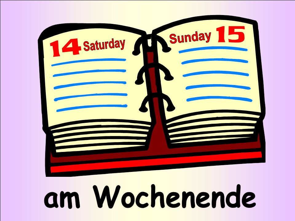 Sunday Saturday am Wochenende