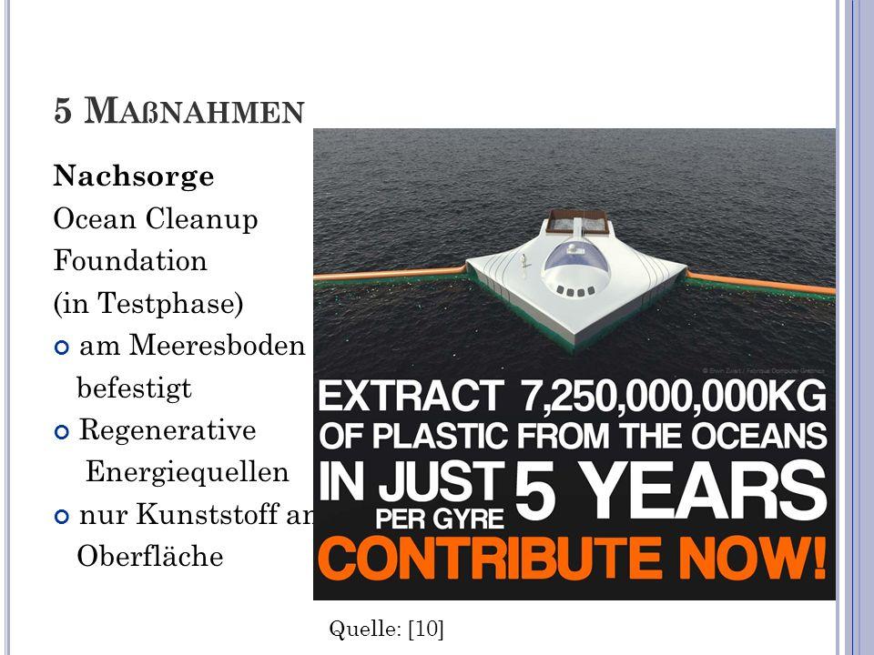 5 Maßnahmen Nachsorge Ocean Cleanup Foundation (in Testphase)