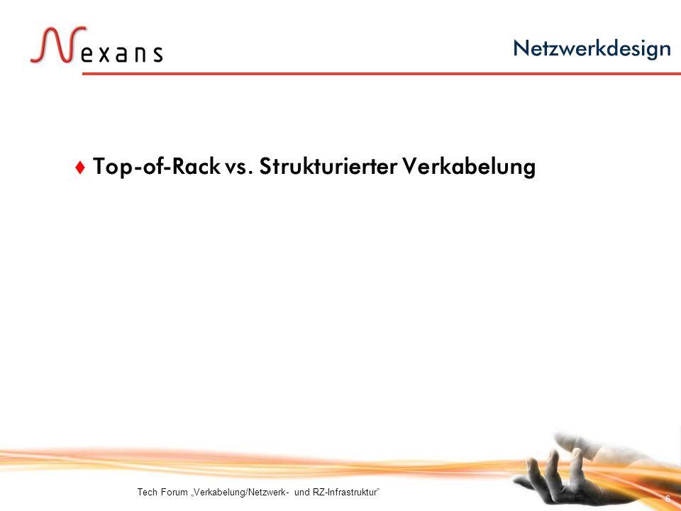 Top-of-Rack vs. Strukturierter Verkabelung