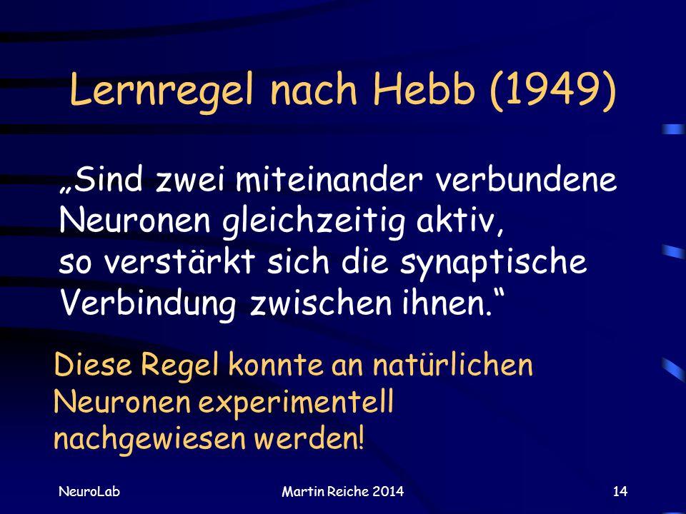 Lernregel nach Hebb (1949)