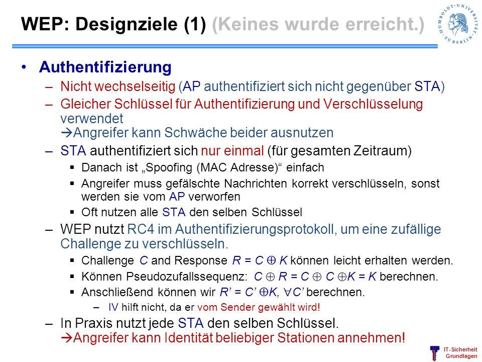 WEP: Designziele (1) (Keines wurde erreicht.)