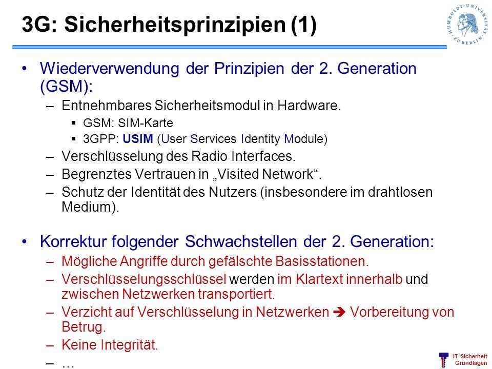 3G: Sicherheitsprinzipien (1)