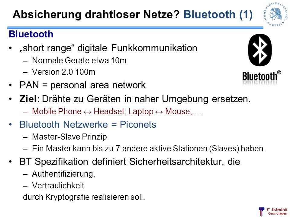Absicherung drahtloser Netze Bluetooth (1)