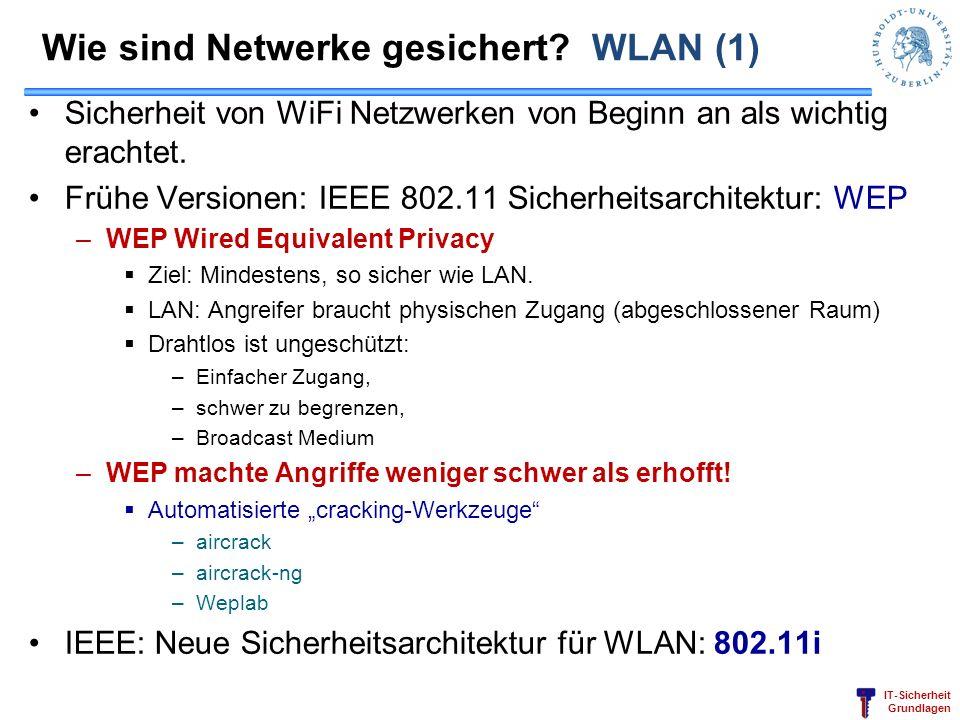 Wie sind Netwerke gesichert WLAN (1)