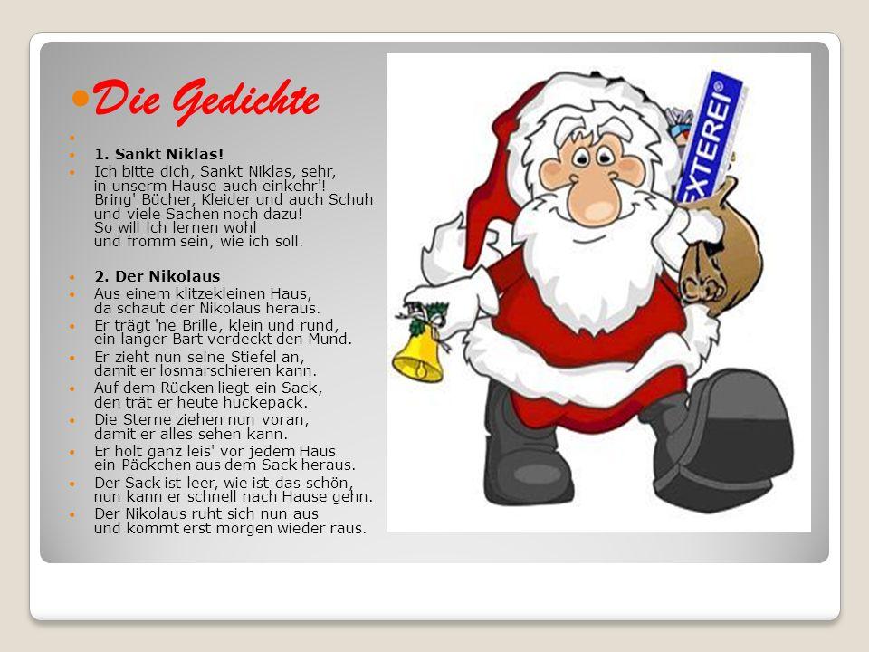 Die Gedichte 1. Sankt Niklas!