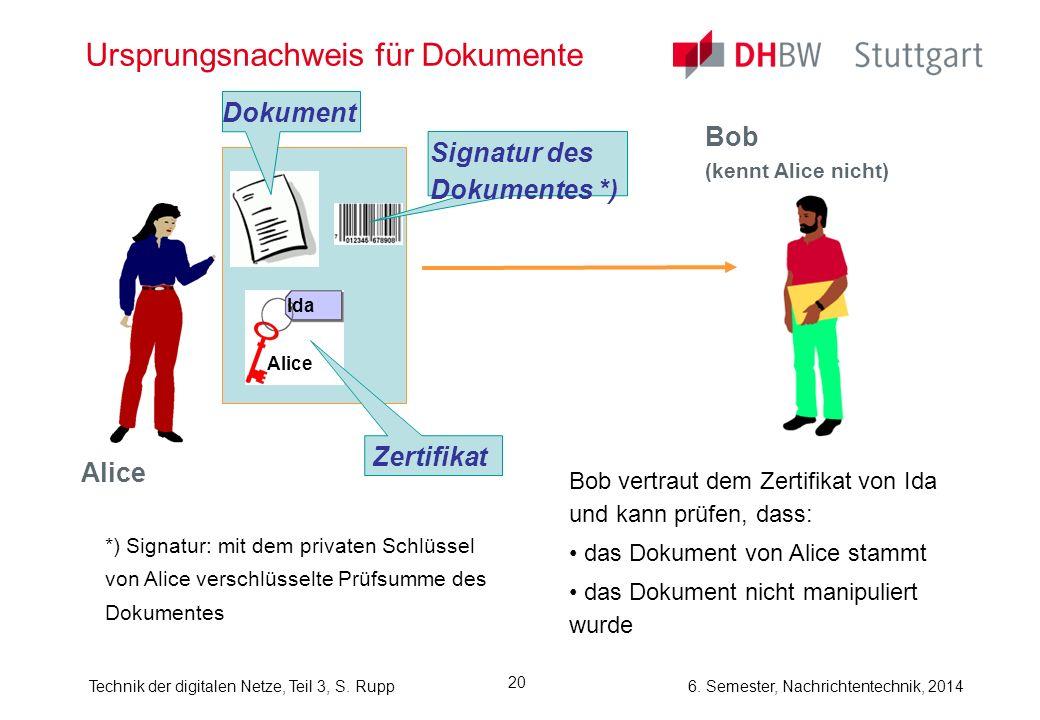 Ursprungsnachweis für Dokumente