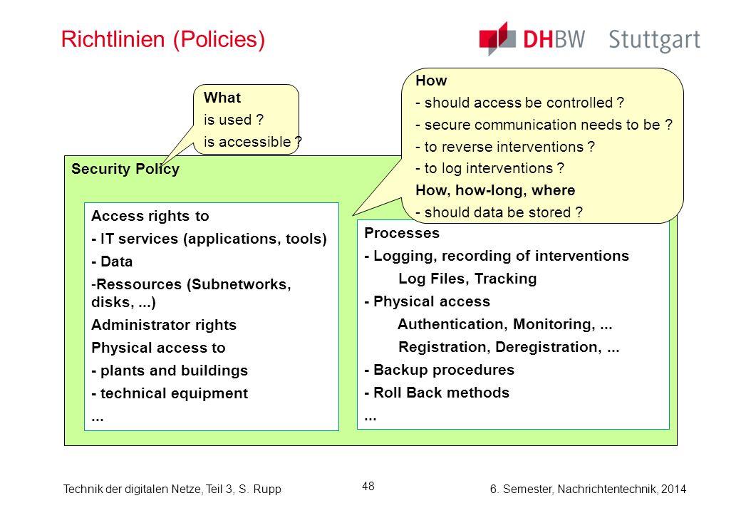 Richtlinien (Policies)
