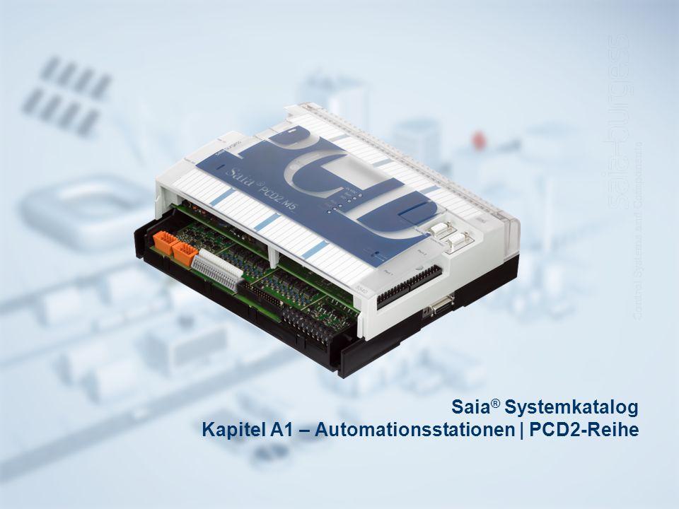 Saia® Systemkatalog Kapitel A1 – Automationsstationen | PCD2-Reihe