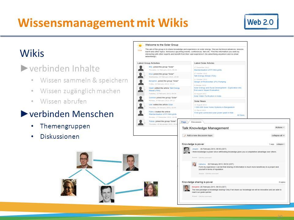 Wissensmanagement mit Wikis
