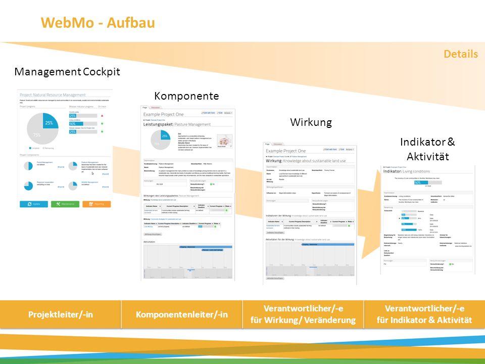 WebMo - Aufbau Details Management Cockpit Komponente Wirkung