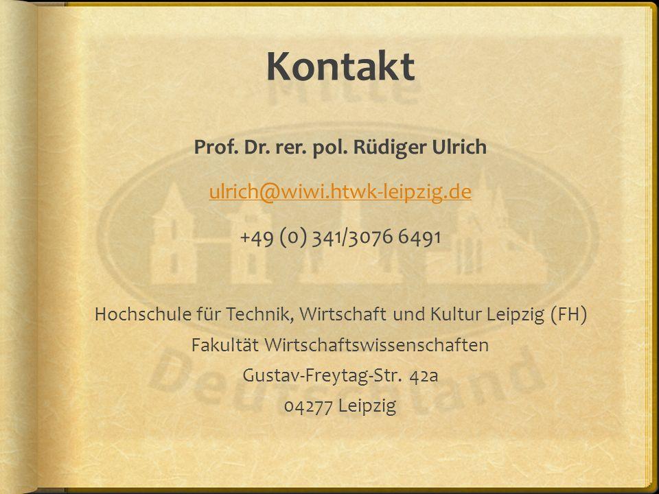 Prof. Dr. rer. pol. Rüdiger Ulrich
