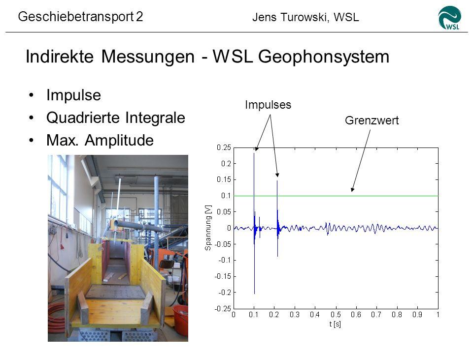 Indirekte Messungen - WSL Geophonsystem