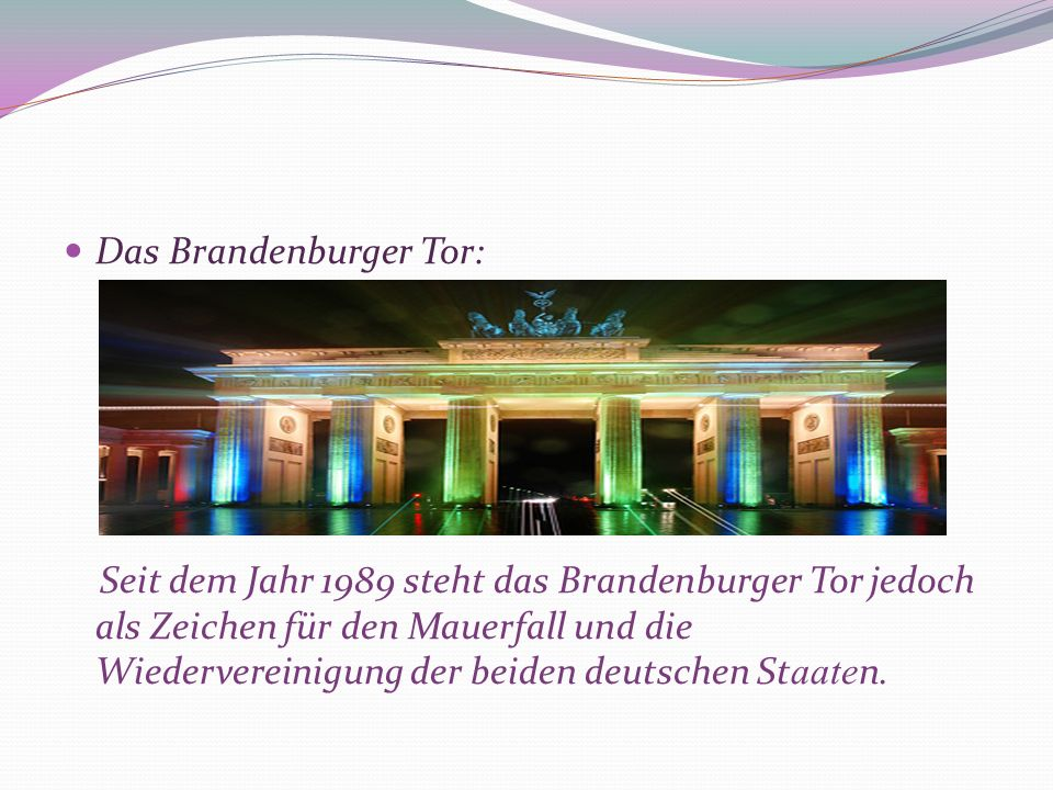 Das Brandenburger Tor: