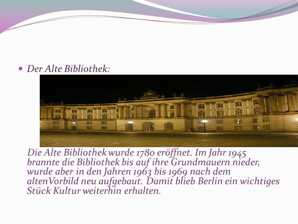 Der Alte Bibliothek: