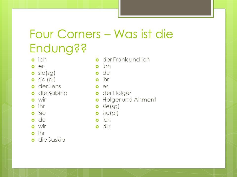 Four Corners – Was ist die Endung