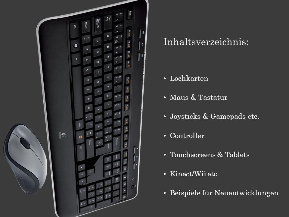 Inhaltsverzeichnis: Lochkarten Maus & Tastatur