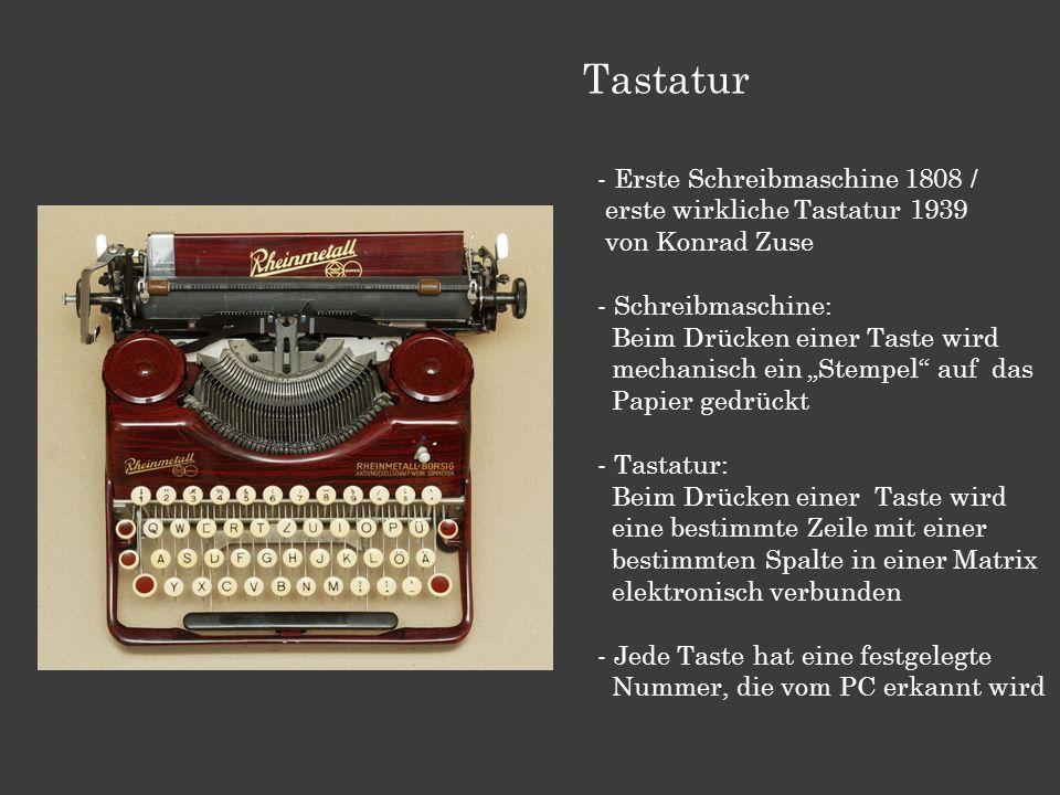 Tastatur Erste Schreibmaschine 1808 /